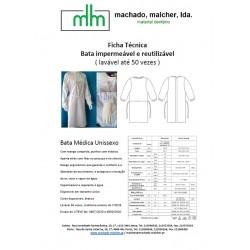 * Machado Malcher - Bata Impermeável e reutilizável